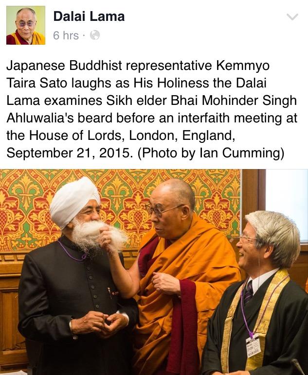 Dalai Lama's Facebook
